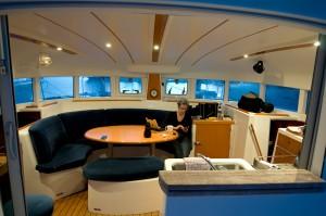 Saloon at sea trials 2011